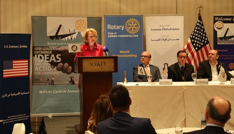 Ambassador Wells at the Rotary International Jordan Chapters, February 8, 2015