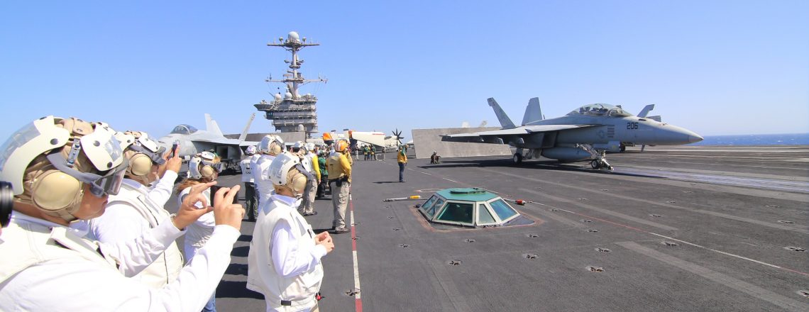 Aboard the USS Harry S. Truman